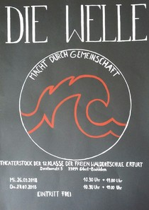 Die Welle, Theaterplakat 2018.jpg